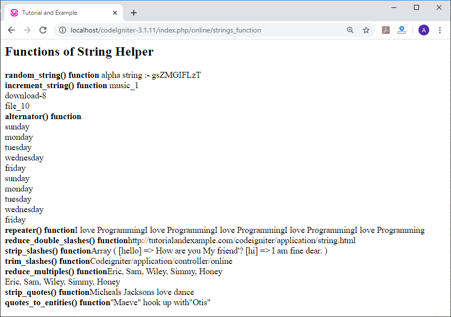 String Helper