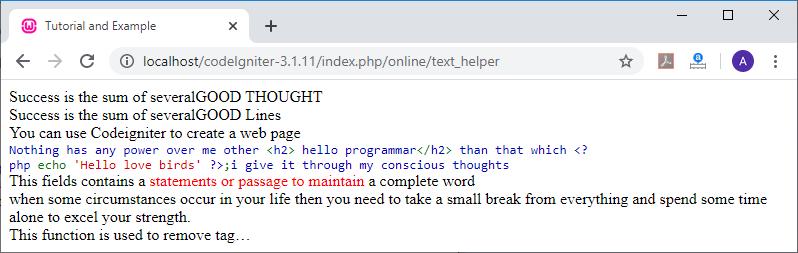 Text Helper