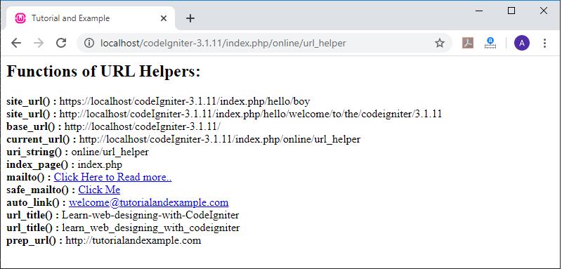 URL Helper