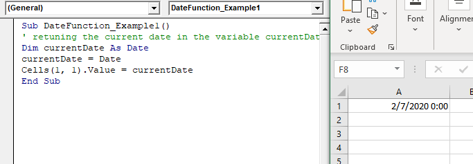 VBA Date Function