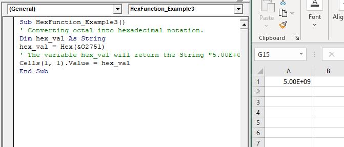 VBA Hex Function
