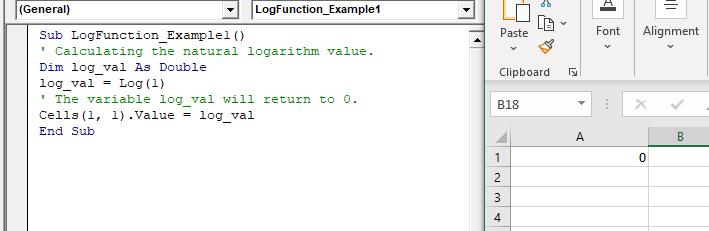 VBA Log Function