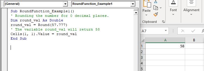 VBA Round Function