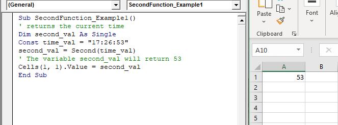 VBA Second Function