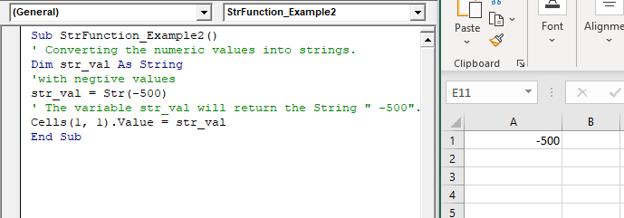 VBA Str Function