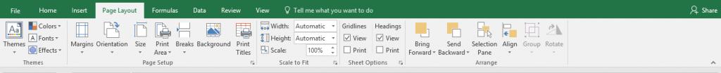 Excel Ribbon Toolbar