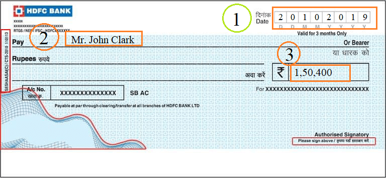 How to write a cheque?