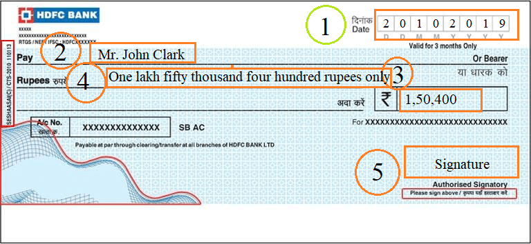 How to write a cheque?c