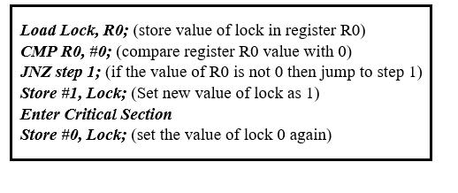 Lock Variable Mechanism