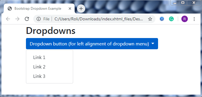 Bootstrap 4 Dropdowns