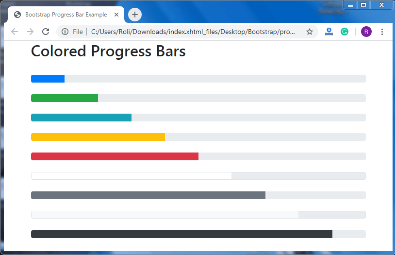 Bootstrap 4 Progress Bar