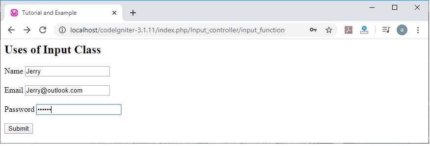 CodeIgniter Input Class