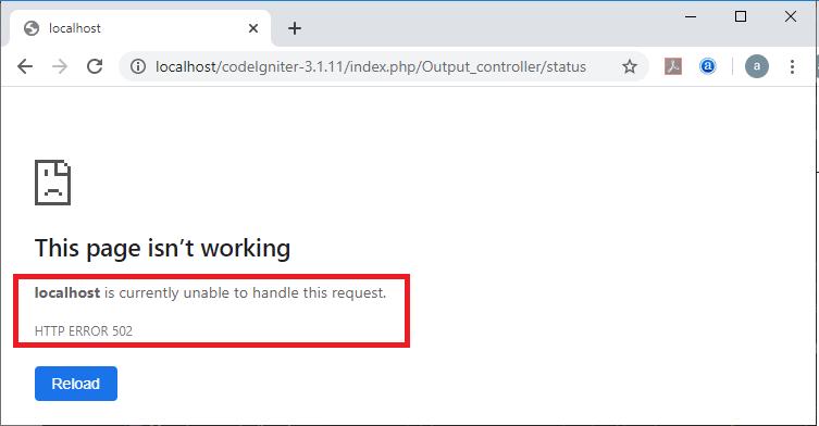 CodeIgniter Output class