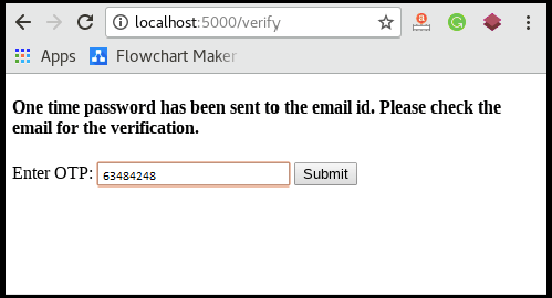 Flask Email verification