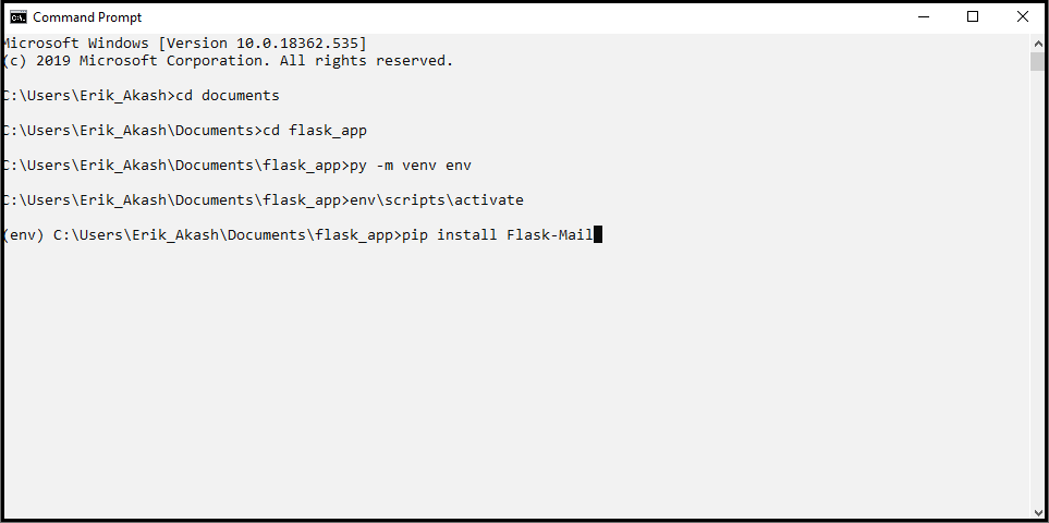 Flask-Mail Extension