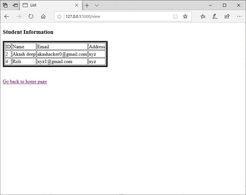Flask SQLite