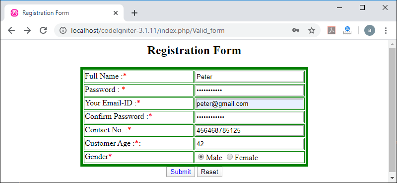 Form Validation Library
