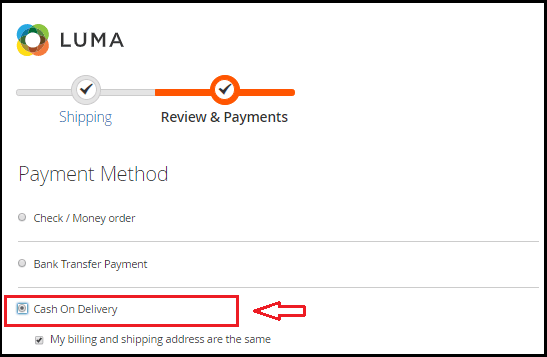 Set up Cash on Delivery payment method in Magento