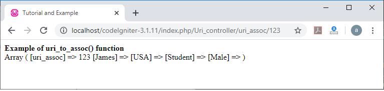 CodeIgniter URI Class