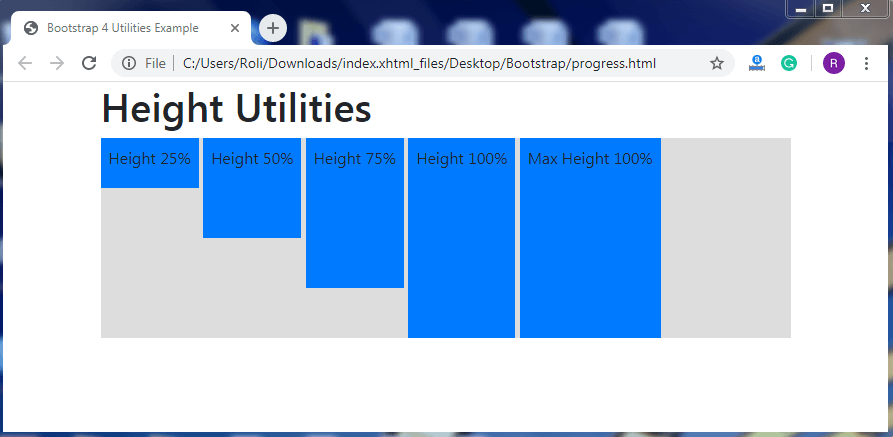 Bootstrap Utilities
