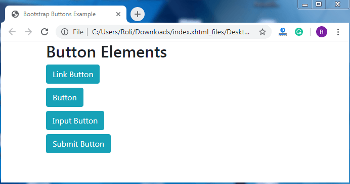 Bootstrap 4 Buttons