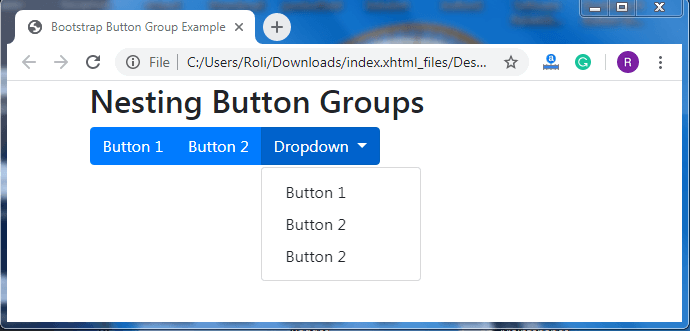 Bootstrap Buttons Groups
