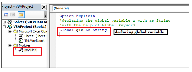 VBA Global Variable