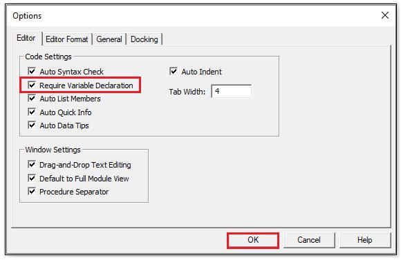 VBA Option Explicit