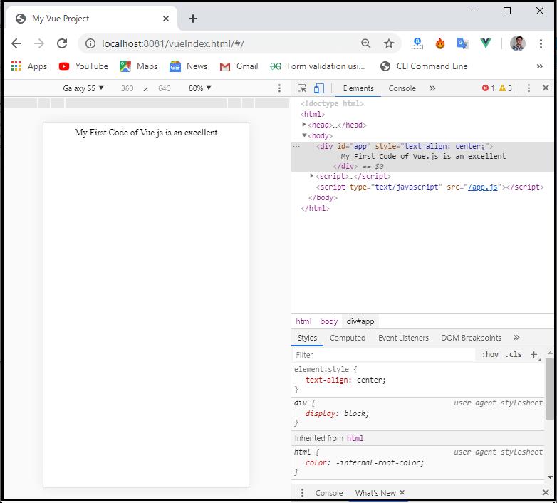Vue.js First Application