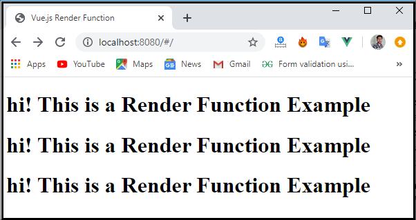 Vue.js Render Functions