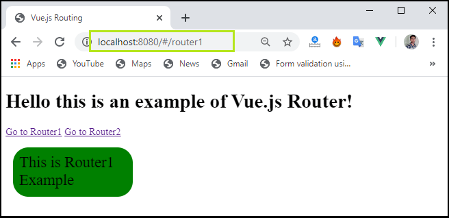 Vue.js Routing