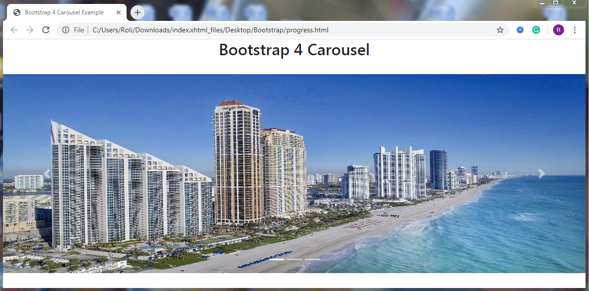 Bootstrap 4 Carousel