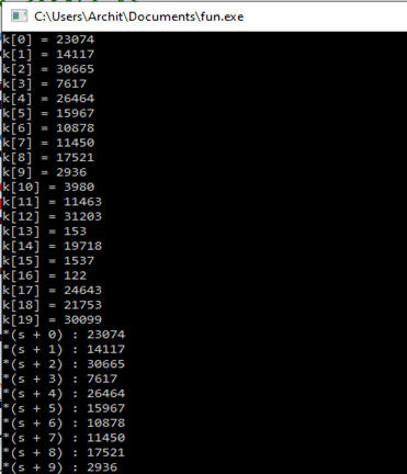 Return array from function in C