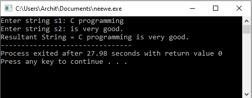 C++ String Concatenation