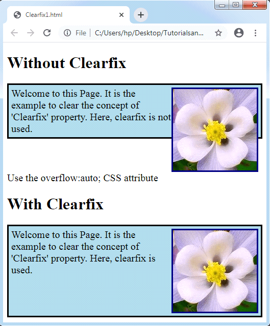 CSS Clearfix