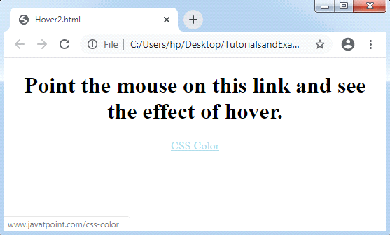 CSS Hover