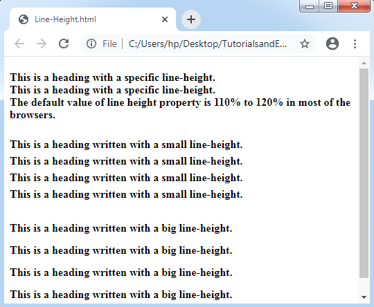 CSS Line Height
