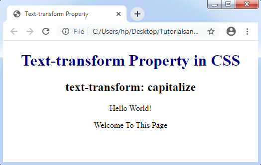 CSS Text-Transform