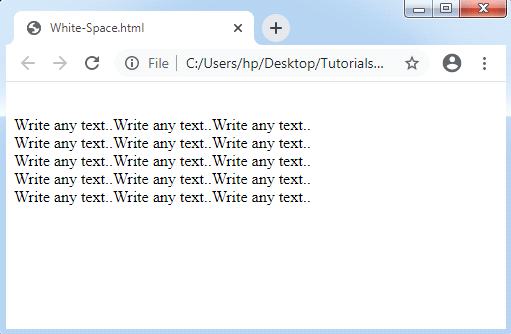 CSS White Space
