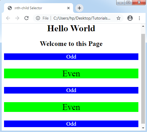 CSS: nth-selector