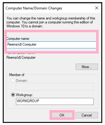 How to change Computer Name