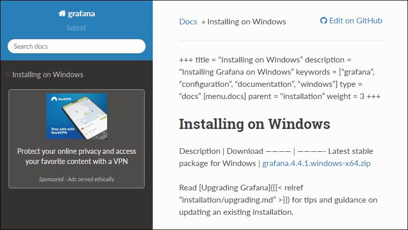 Install Grafana on Windows