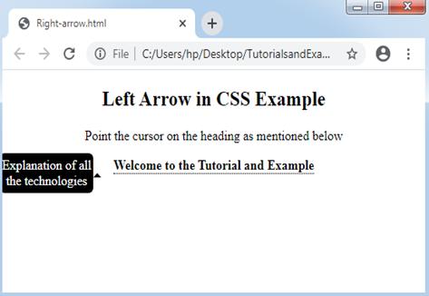 CSS Arrow