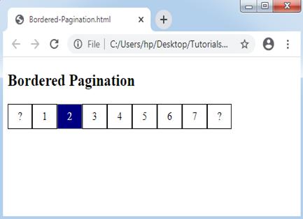 CSS Pagination