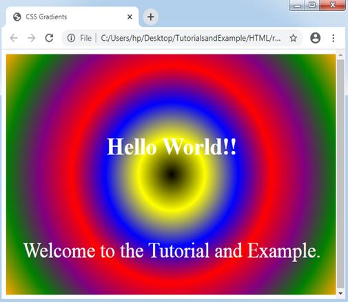 Radial-gradient() CSS function