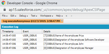 Salesforce Class and Object in Apex