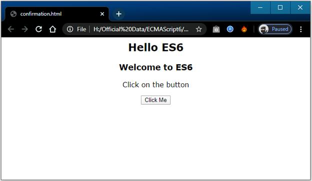 Dialog box in ES6