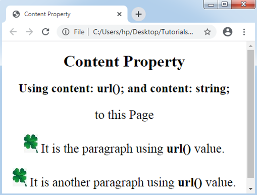 CSS Content Property