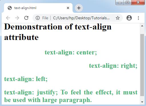 CSS Text-align