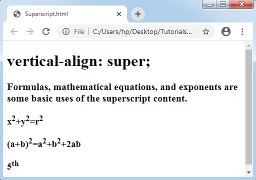 CSS Superscript and Subscript